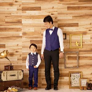 七五三の父親と息子の写真