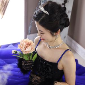 人気のドレスで撮影