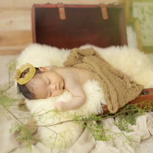 天使のように寝ている赤ちゃん