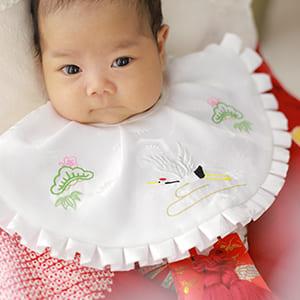 女の子の産着