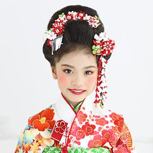日本髪風の女の子