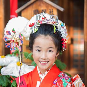 七歳の七五三で日本髪