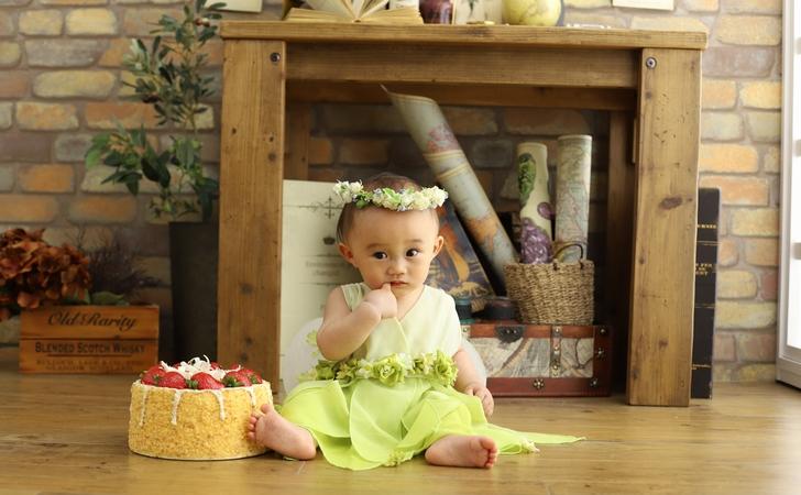 1歳のバースデー写真