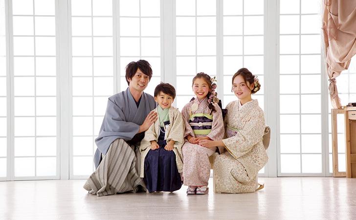 七五三の家族写真