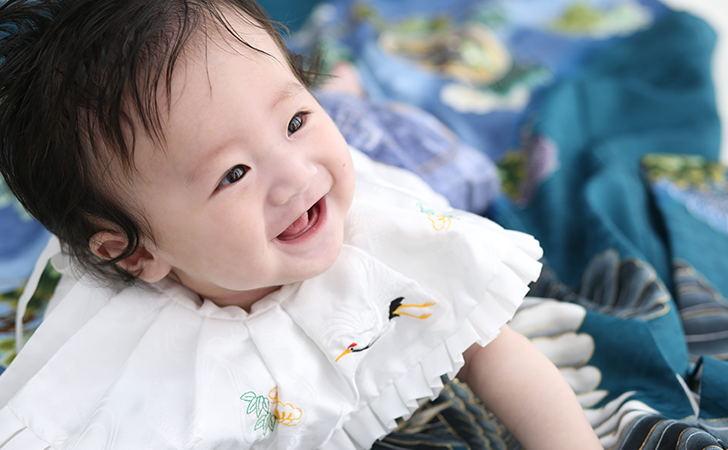 笑顔の男の子